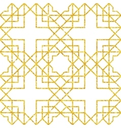 Golden seamless pattern vector