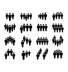 group business people in teamwork icon set vector image