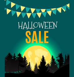 Halloween sate poster background template vector