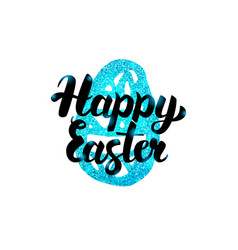 Happy easter handwritten greeting vector