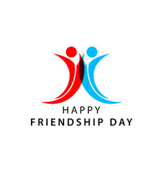 Happy friendship day template design vector