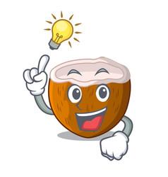 Have an idea half coconut isolated on the mascot vector