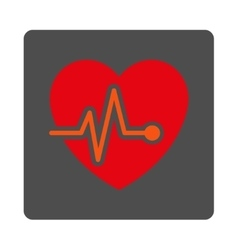 Heart Graph Rounded Square Button vector