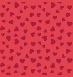 hearts flat seamless pattern valentines vector image