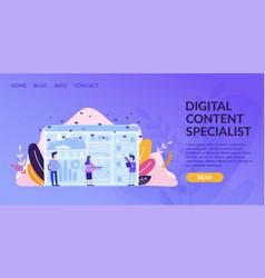 Horizontal flat banner digital content specialist vector