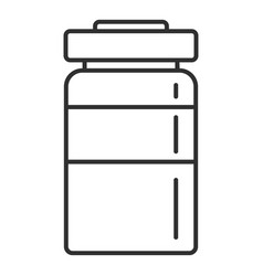 injection bottle icon outline style vector image