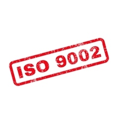 ISO 9002 Text Rubber Stamp vector