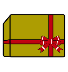 isolated christmas present vector image