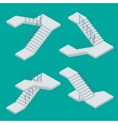 Isometric staircase Set of various vector image
