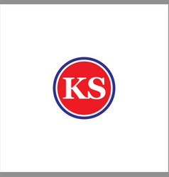 k s letter logo icon design vector image