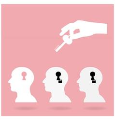 Key of creativity vector