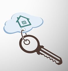 Key with keychain vector image