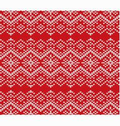 Knit jumper geometric ornament design seamless vector