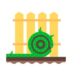 Lawn Fence Flat vector