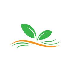 leaf ecology concept logo image vector image