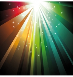 magic lights vector image
