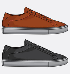 men fashion shoe styles vector image