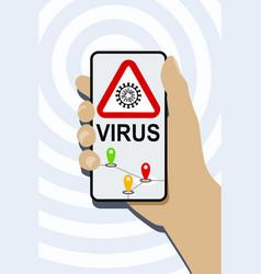 mobile phone virus detection app vector image