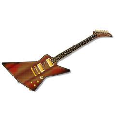 Modern grunge guitar vector
