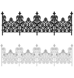 Ornament for a fence vector