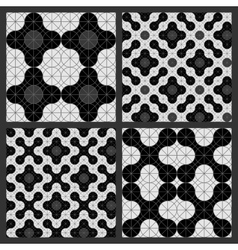 Pattern of circles Black and white vector image