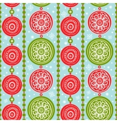 Pattern with Christmas Garlands vector image
