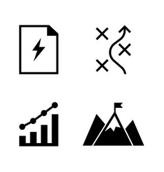 planning simple related icons vector image