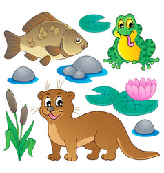 river fauna collection 1 vector image