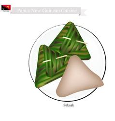 Saksak Papua New Guinean Dish vector