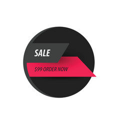 Sale discount design black pink vector