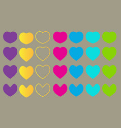 Seamless pattern colorful love design vector