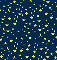 Seamless Pattern with Starry Night vector image