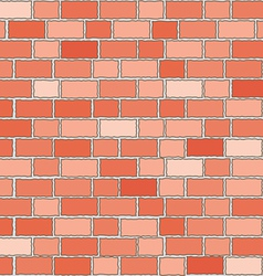 seamless red bricks wall vector image