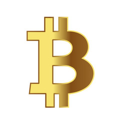 Sign of coins bitcoin isolated on white vector