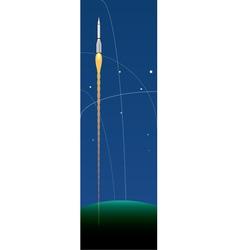 Space rockets vector