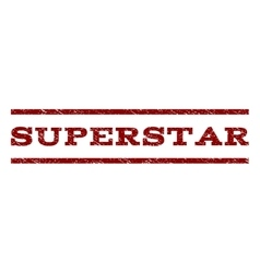 Superstar Watermark Stamp vector
