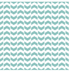 tile pattern with blue and mint green zig zag vector image