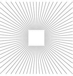 trendy cool design elemen starburst bursting rays vector image