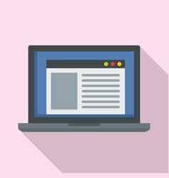 virtual computer learning icon flat style vector image