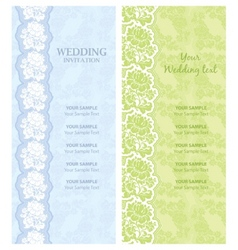 Wedding invitation template vector vector