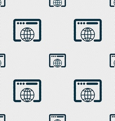 Window icon sign seamless pattern with geometric vector