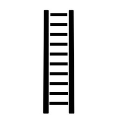 Wooden step ladder the black color icon vector