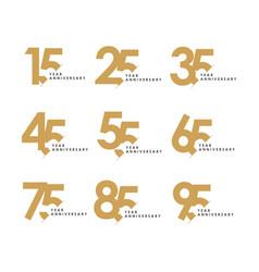 Year anniversary set template design vector