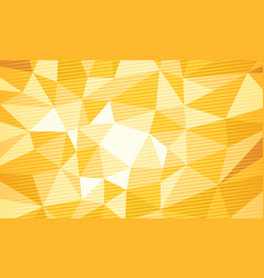 Yellow polygonal background vector