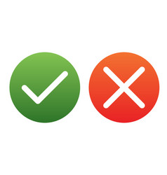 yes or no vector image