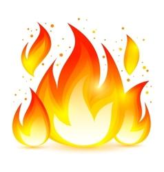 Fire Decorative Icon vector image vector image