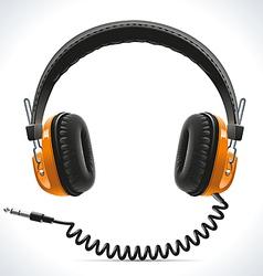Old headphones vector