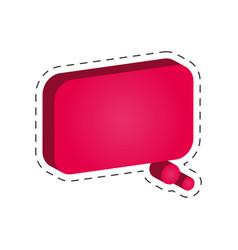 speech bubble dialog cut line vector image