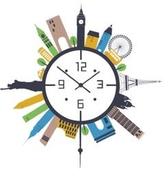 Travel clock vector image vector image