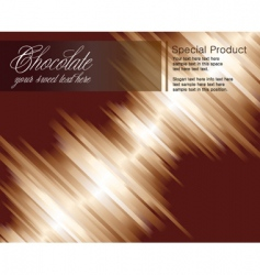 chocolate striped background vector image